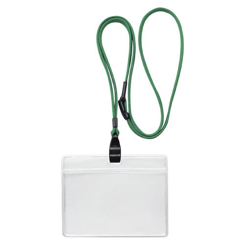 (まとめ) 名札 ソニック 吊り下げ名札 エコノミータイプ グリーン NF-482-G 4970116034298 1袋【10×セット】