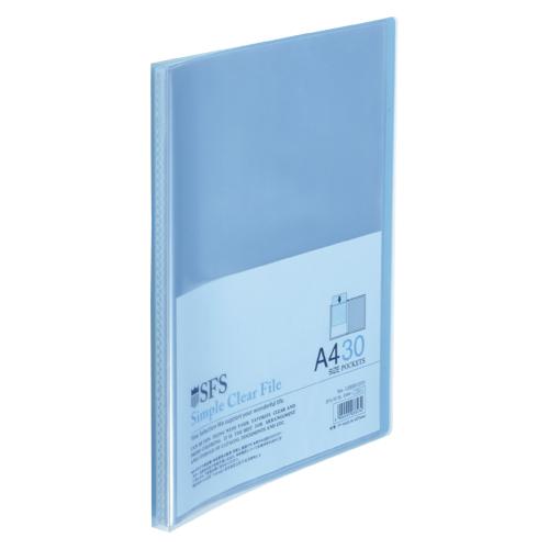 (まとめ) クリヤーファイル(ポケット溶着式) たんぽぽ A4クリアーファイル ブルー 109991070 4904555033574 1冊【50×セット】