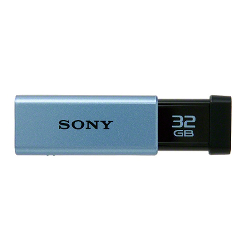 (まとめ) USBメモリ ソニー USB3.0メモリ ブルー USM32GT L 4905524886665 ●容量:32GB 1個【5×セット】