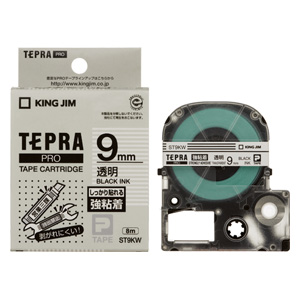 (まとめ) テプラテープ キングジム 「テプラ」PRO SRシリーズ専用テープカートリッジ ST9KW 4971660756698 ●9mm幅 1個【10×セット】