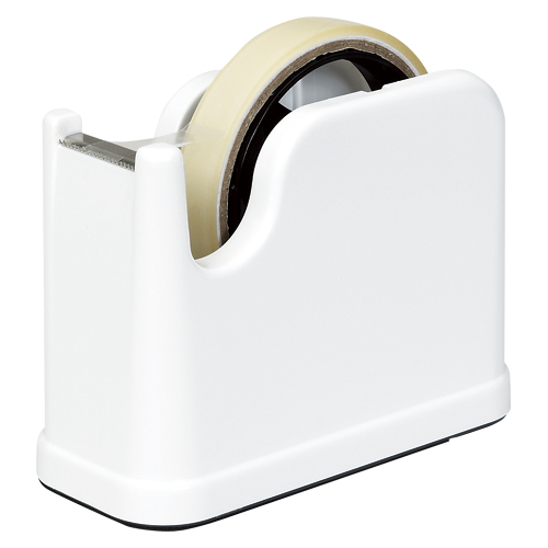 (まとめ) テープカッター ナカバヤシ テープカッター ホワイト NTC-201W 4902205503415 1個【30×セット】