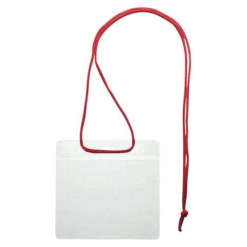 (まとめ) 名札 ソニック イベント吊下げ名札 赤 VN-343-R 4970116038234 1袋【5×セット】