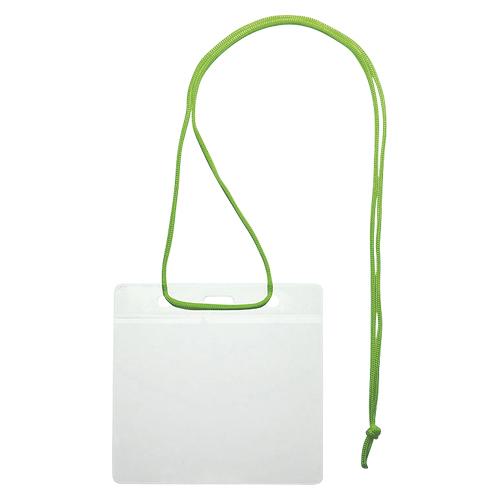 (まとめ) 名札 ソニック イベント吊下げ名札 緑 VN-343-G 4970116038258 1袋【5×セット】