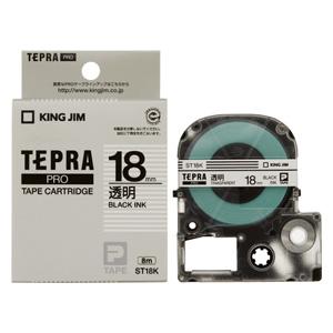 (まとめ) テプラテープ キングジム 「テプラ」PRO SRシリーズ専用テープカートリッジ ST18K 4971660761807 ●18mm幅 1個【10×セット】