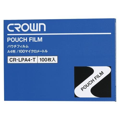 (まとめ) パウチフィルム クラウン パウチフィルム CR-LPA4-T 4953349020115 ●規格:A4判●外寸:縦216×横303mm 1箱【5×セット】