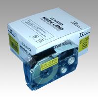 (まとめ) ネームランドテープ カシオ ネームランド用テープカートリッジ XR-12YW-5P-E 4971850139652 ●12mm幅 1個【5×セット】
