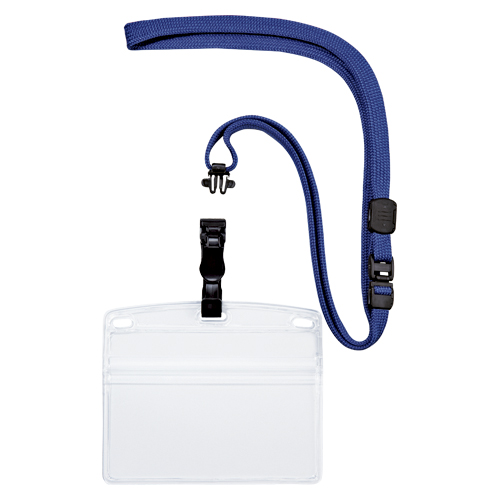 (まとめ) 名札 オープン 吊り下げ名札 脱着式 青 NL-6-BU 4970115559754 1袋【5×セット】