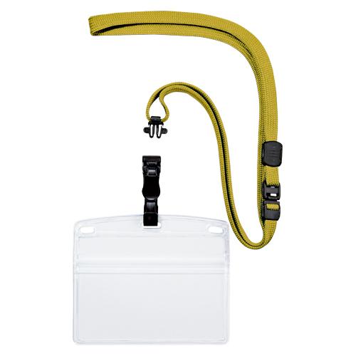 (まとめ) 名札 オープン 吊り下げ名札 脱着式 黄色 NL-6-YE 4970115559785 1袋【5×セット】