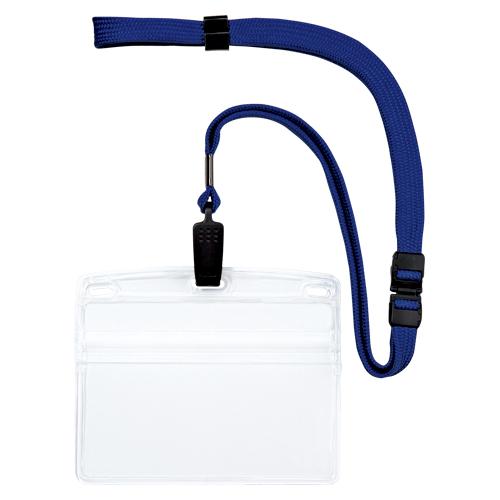 (まとめ) 名札 オープン 吊り下げ名札 クリップ式 青 NL-21P-BU 4970115560293 1枚【50×セット】