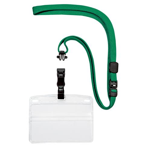 (まとめ) 名札 オープン 名刺&IDカード用・吊り下げ名札 脱着式 緑 NL-5-GN 4970115560040 1袋【5×セット】