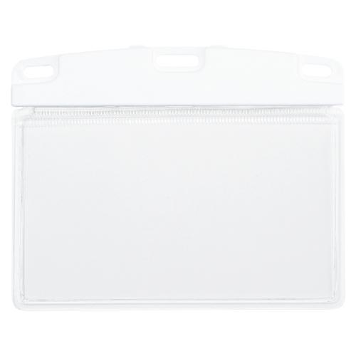 (まとめ) 名札 オープン 名札ケース 白 NX-100-WH 4970115560835 1袋【10×セット】