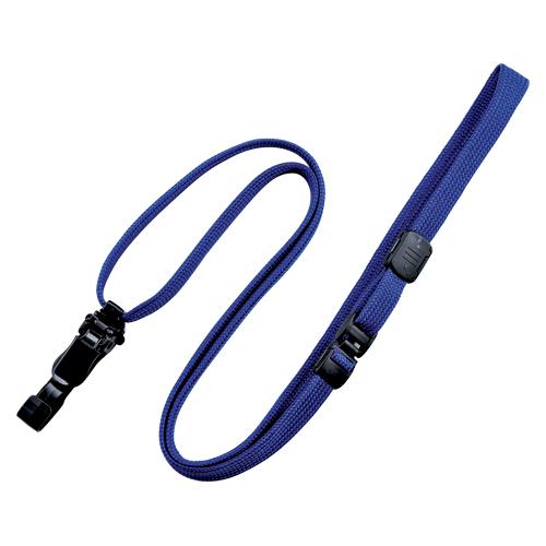 (まとめ) 名札用ストラップ オープン ループクリップ 青 NX-8-BU 4970115559808 1袋【5×セット】