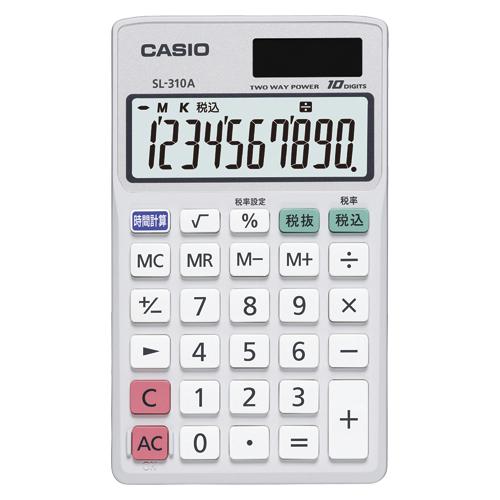 (まとめ) 電卓 カシオ 電卓  SL-310A-N 4971850179047  1個【10×セット】