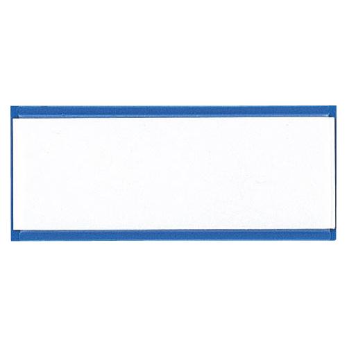 (まとめ) マグネット見出し クラウン マグタッチスライド見出し 青 CR-MG401-BL 4953349081796 ●外寸:縦40×横100×厚1.0mm 1個【100×セット】