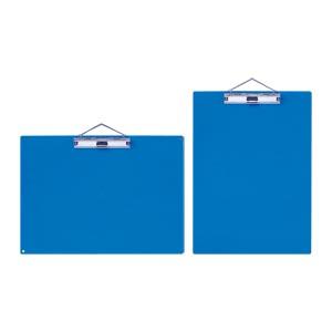(まとめ) クリップボード オープン カラー用箋挟 青 KB-801-BU 4970115205323 1枚【10×セット】