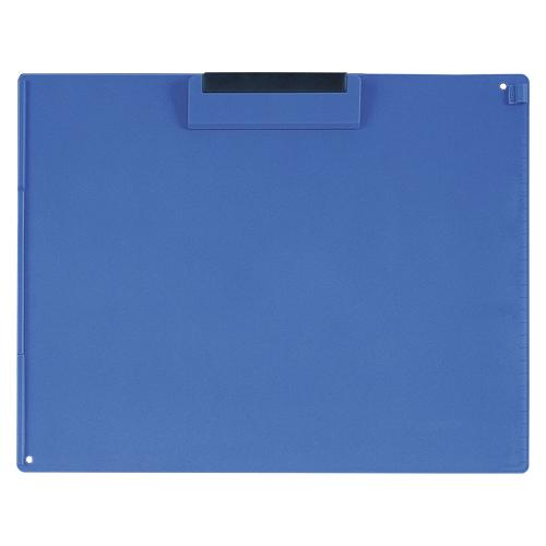 (まとめ) クリップボード オープン クリップボード 再生ABS樹脂製 青 CB-101-BU 4970115204128 1枚【20×セット】