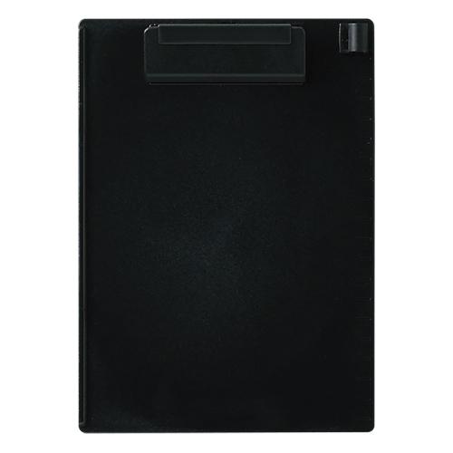 (まとめ) クリップボード オープン クリップボード 再生ABS樹脂製 黒 CB-400-BK 4970115204661 1枚【50×セット】