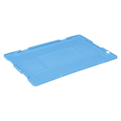 (まとめ) 折りたたみコンテナ 岐阜プラスチック工業 折りたたみコンテナー専用蓋 ブルー NR50 ICフタ 4938233597386 1枚【10×セット】
