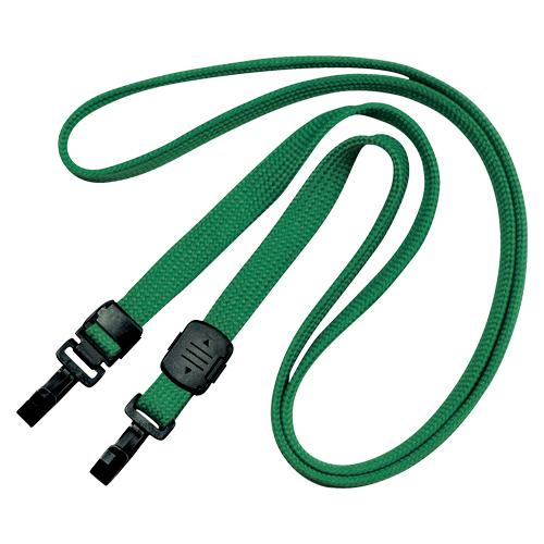 (まとめ) 名札用ストラップ オープン 吊り下げ名札 緑 NX-7-GN 4970115560507 1袋【5×セット】