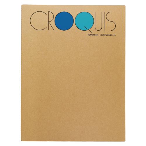 (まとめ) スケッチブック マルマン クロッキーブック ブルー SL-02 4979093000715 ●規格:L 1冊【20×セット】