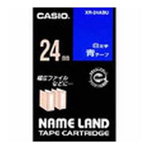 (まとめ) ネームランドテープ カシオ ネームランド用テープカートリッジ XR-24ABU 4971850153658 ●24mm幅 1個【10×セット】