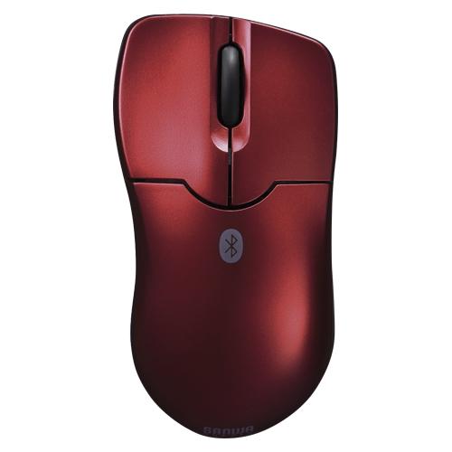 (まとめ) ワイヤレスマウス サンワサプライ Bluetooth3.0 ブルーLEDマウス レッド MA-BTBL27R 4969887692462 1個【5×セット】