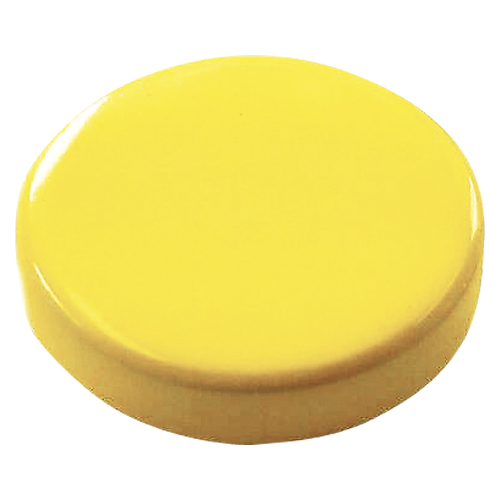 【スーパーセールでポイント最大44倍】(まとめ) マグネット用品 クラウン スクールマグタッチ 強力タイプ 黄色 CR-MG30S-Y 4953349059177 1個【30×セット】