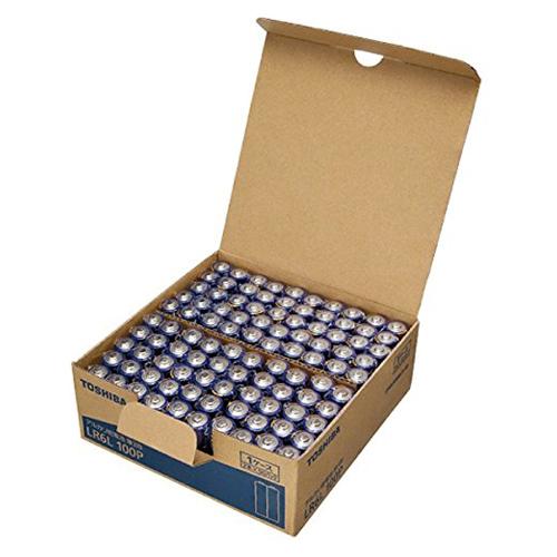 (まとめ) アルカリ乾電池 東芝 アルカリ乾電池 LR6L100P 4904530026065 ●形式:単3形(1.5V) 1箱【5×セット】