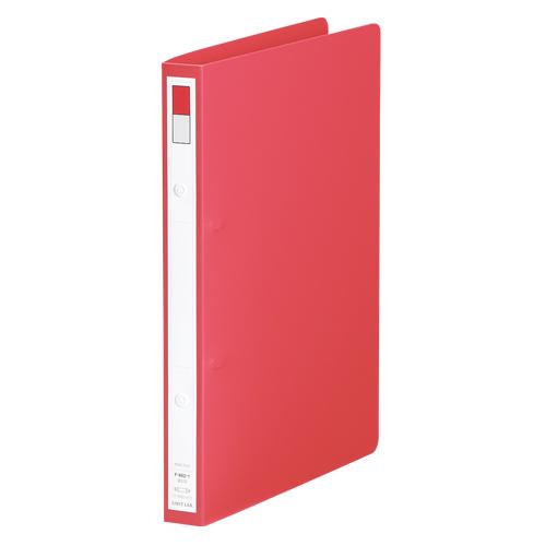 (まとめ) リングファイル リヒトラブ リングファイル 赤 F-862-1 4903419134174 1冊【30×セット】