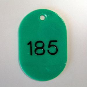 (まとめ) 番号札 クラウン 番号札 小判型・スチロール製 緑 CR-BG44-G 4953349083950 ●大 151?200番 1組【5×セット】