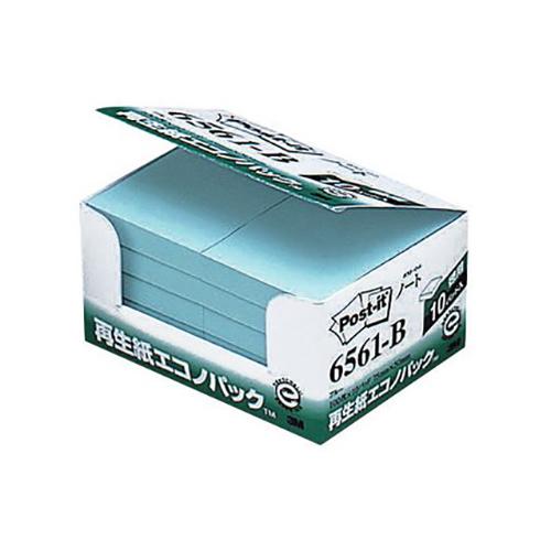 (まとめ) ふせん スリーエム ポスト・イット[R] 製品 エコノパック[TM]製品シリーズ 10個入 ブルー 6561-B 4519001598691 ●エコノパック 1箱【5×セット】