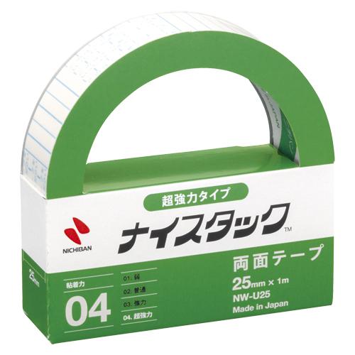 (まとめ) 両面テープ ニチバン ナイスタック[TM]超強力タイプ NW-U25 4987167084868 ●寸法:幅25mm×長1m 1個【20×セット】