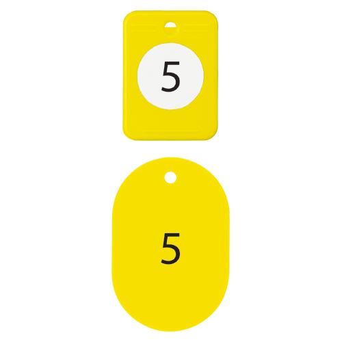 (まとめ) 番号札 オープン クロークチケット 黄色 BF-150-YE 4970115563553 1組【5×セット】