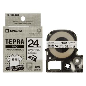 (まとめ) テプラテープ キングジム 「テプラ」PRO SRシリーズ専用テープカートリッジ SF24K 4971660796809 ●24mm幅 1個【10×セット】