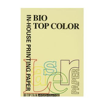 (まとめ) コピー用紙(カラー用紙) 伊東屋 バイオトップカラー レモン BT127 4944257011272 1冊【20×セット】