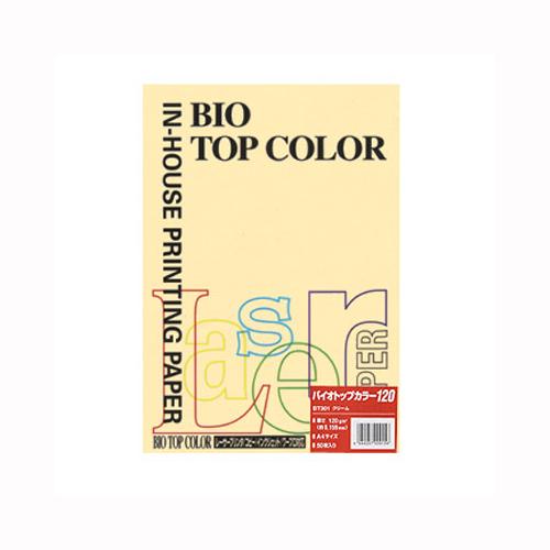 (まとめ) コピー用紙(カラー用紙) 伊東屋 バイオトップカラー クリーム BT301 4944257009156 1冊【20×セット】