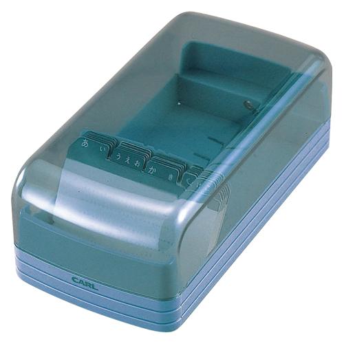 (まとめ) 名刺整理用品 カール 名刺整理箱 ブルー NO.860E-B 4971760172367 ●収容枚数:600枚 1個【20×セット】