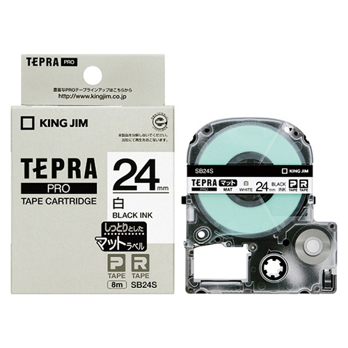 (まとめ) テプラテープ キングジム 「テプラ」PRO SRシリーズ専用テープカートリッジ SB24S 4971660773725 ●24mm幅 1個【10×セット】