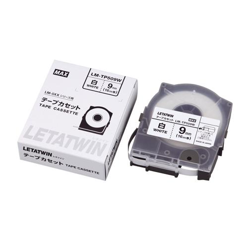 (まとめ) レタツイン用品 マックス チューブマーカー・レタツイン専用消耗品 白 LM90173 4902870811020 ●9mm幅 1個【10×セット】