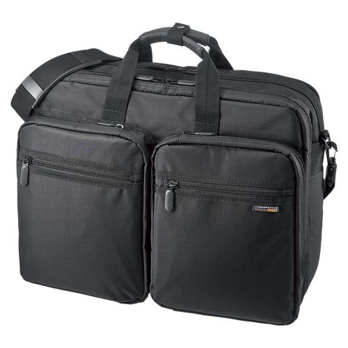 【単品】 ビジネスバッグ サンワサプライ 3WAYビジネスバッグ(出張用・大型) ブラック BAG-3WAY22BK 4969887746240