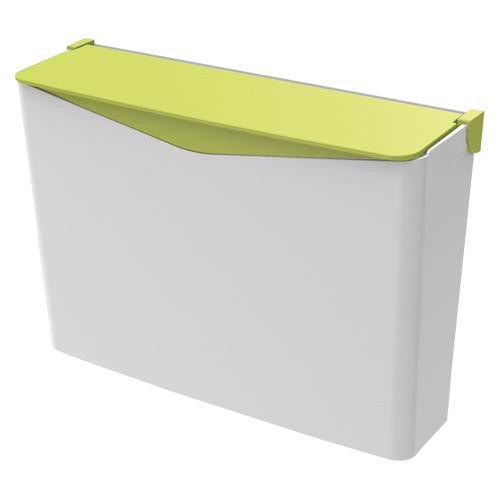 (まとめ) ゴミ箱 セキスイ エコペーパーポケットNセット ホワイト/グリーン SRPPSWG 4580167565186 1個【5×セット】