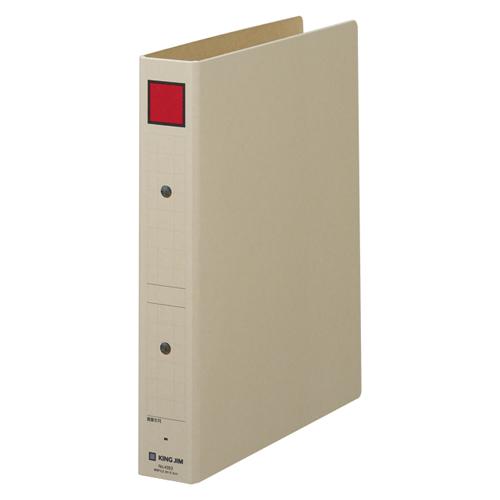 (まとめ) パイプ式ファイル キングジム 保存ファイル 赤 4353 4971660285402 ●規格:B5判タテ型●背幅:45mm●綴じ厚:30mm●適正収容:300枚 1冊【30×セット】