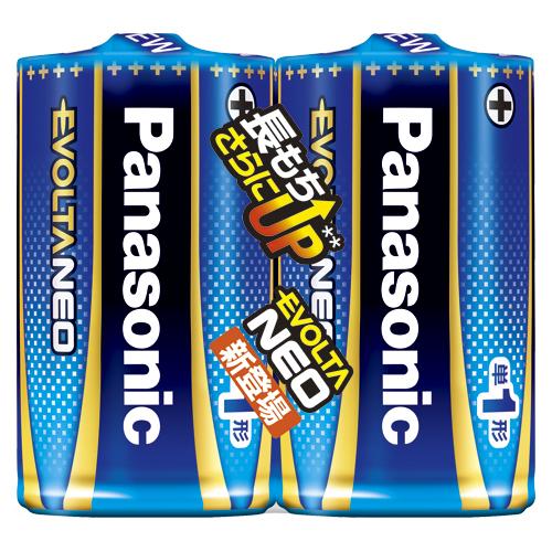 (まとめ) アルカリ乾電池 パナソニック エボルタNEO LR20NJ/2SE 4549077898517 ●形式:単1形(1.5V) 1個【20×セット】