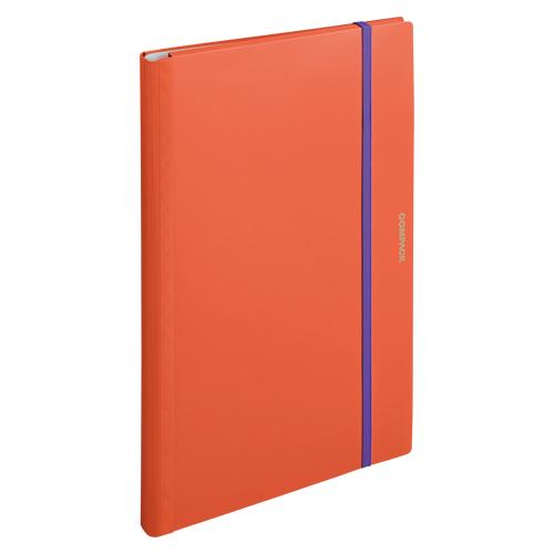 (まとめ) ホルダー型ファイル キングジム 二つ折りクリアーファイル コンパック オレンジ 5896Hオレ 4971660045273 1冊【20×セット】