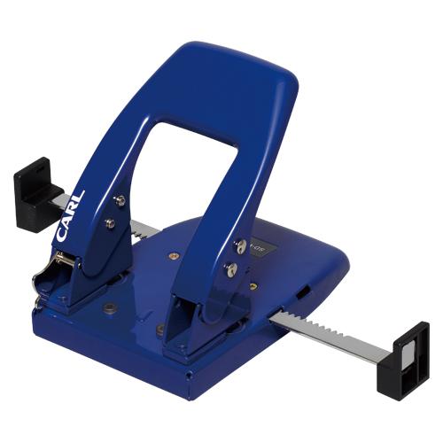 (まとめ) パンチ(2穴) カール 2穴パンチ ダブルゲージ ブルー SD-W50-B 4971760140090 ●穿孔能力:約50枚 1個【5×セット】