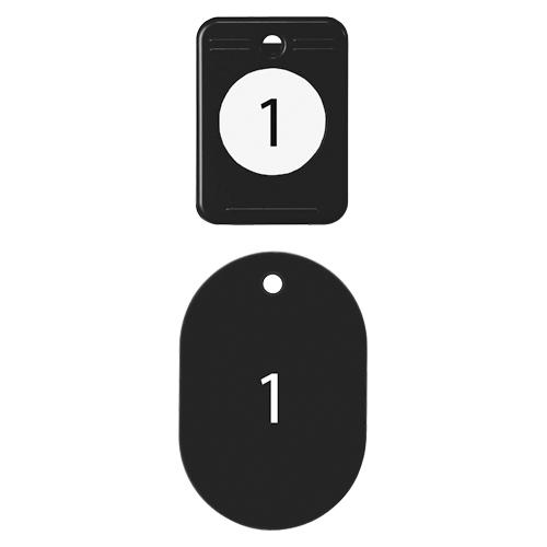 (まとめ) 番号札 オープン クロークチケット ブラック BF-150-BK 4970115564758 1箱【5×セット】