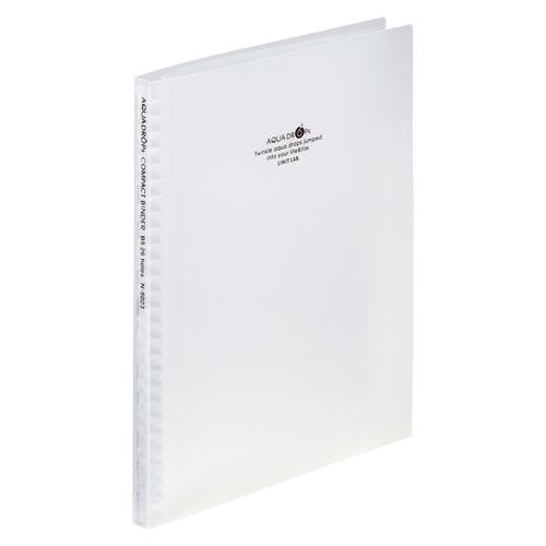 (まとめ) バインダー リヒトラブ AQUA DROPs コンパクトバインダー 乳白 N-5023-1 4903419329648 1冊【30×セット】