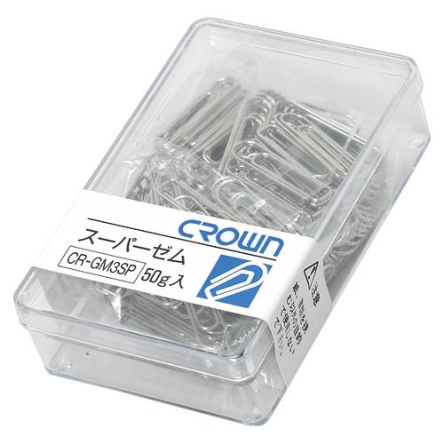 (まとめ) クリップ クラウン スーパーゼム CR-GM3SP-SL 4953349056695 ●規格:小 1個【100×セット】