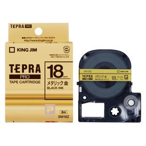 (まとめ) テプラテープ キングジム 「テプラ」PRO SRシリーズ専用テープカートリッジ SM18Z 4971660753024 ●18mm幅 1個【10×セット】