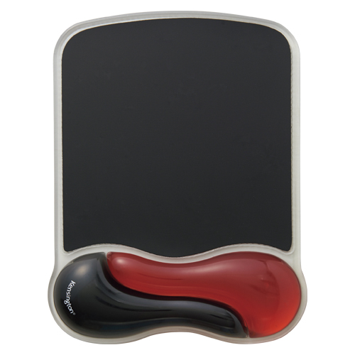 (まとめ) マウスパッド アコ・ブランズ GEL Wave レッド K62402JP 4995364270380 ●外寸:縦250×横190×厚25mm 1個【5×セット】